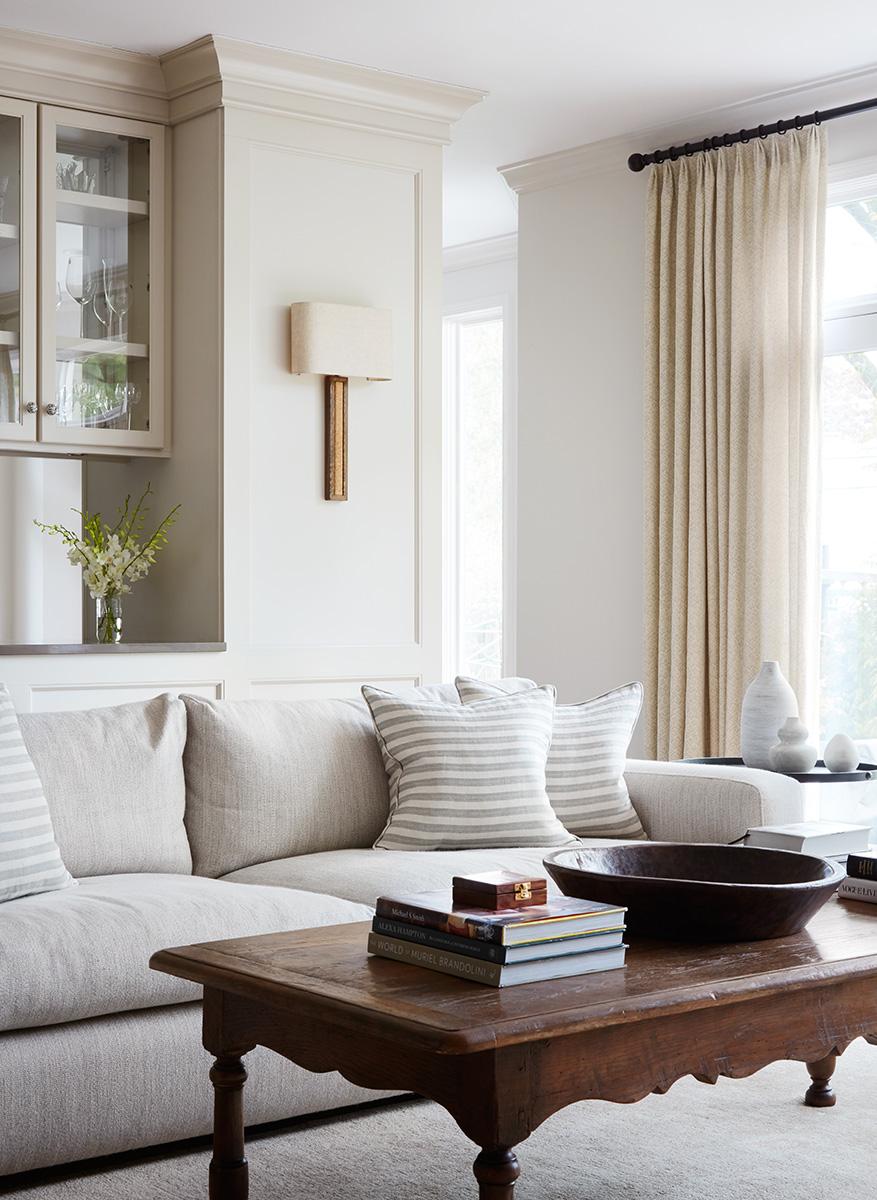 2to5 Design - Jodi Morton - Shermer - Bright Sofa Wainscotting