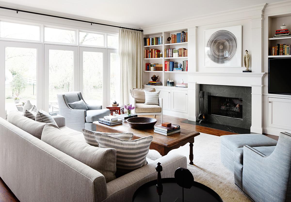 2to5 Design - Jodi Morton - Shermer - Living Room Light Fireplace